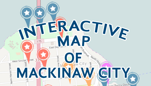 Mackinaw City Michigan Map